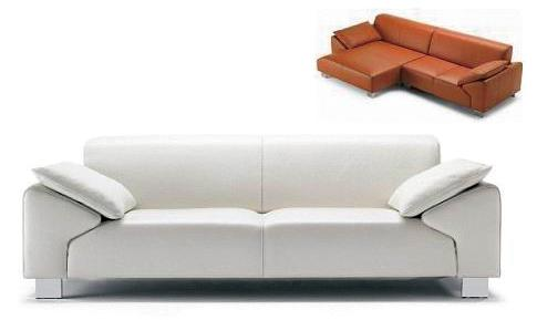 small white sofa