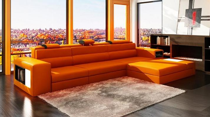 Attirant Leather Sectional