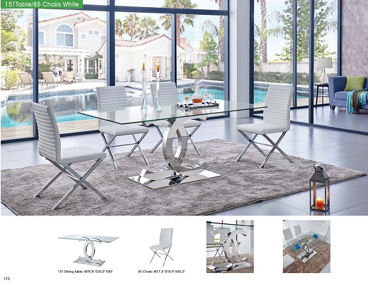Modern dining room furniture glass dining tables bar for Table 85 ottawa