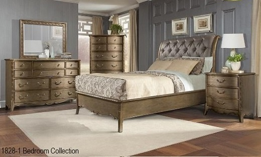 Classic transitional Contemporary Solid wood bedroom furniture in ...