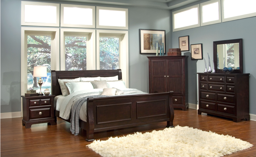 Classic transitional Contemporary Solid wood bedroom ...
