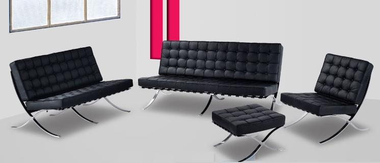 barcelona sofa and chair