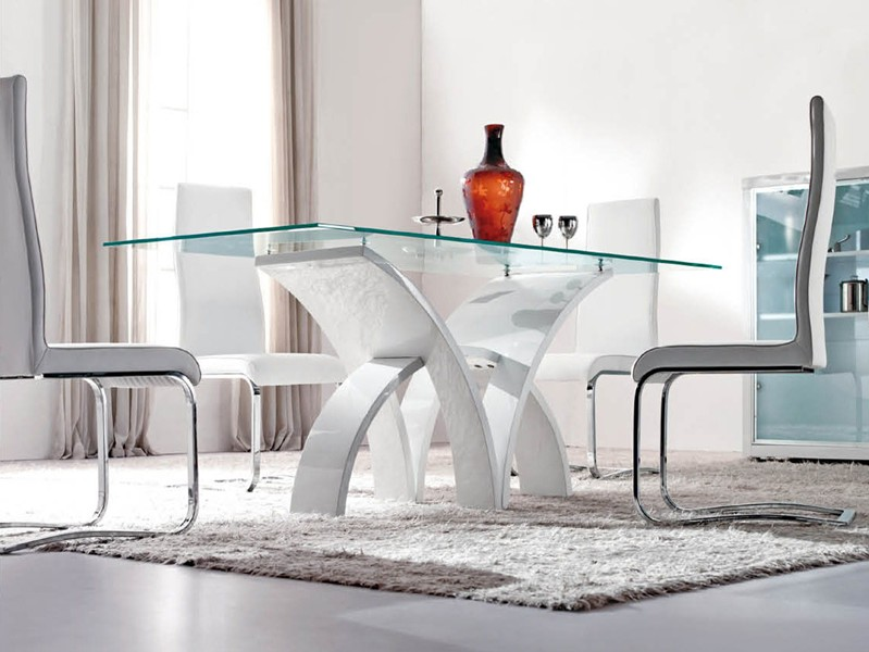 Modern Glass Dining Room Table Creditrestore Us