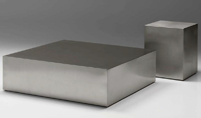stainless steel block coffee table