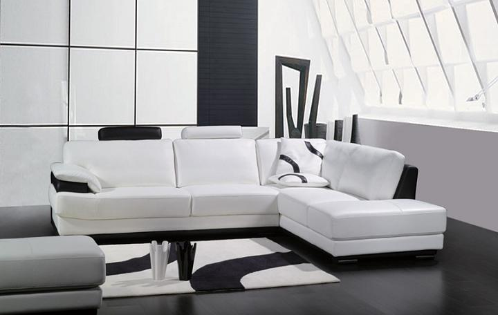 black white sectional