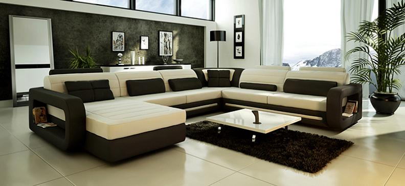 Modern Custom Leather Sofa - Sectional Sofas and Sofa ...