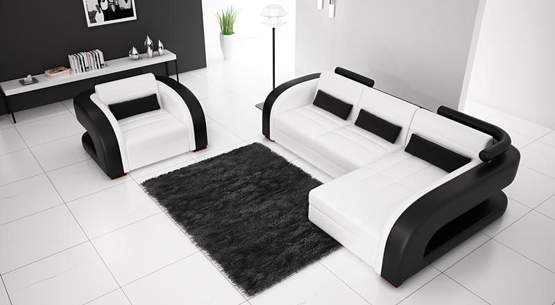 Modern sectional sofas and corner couches in toronto - Canape design noir et blanc ...