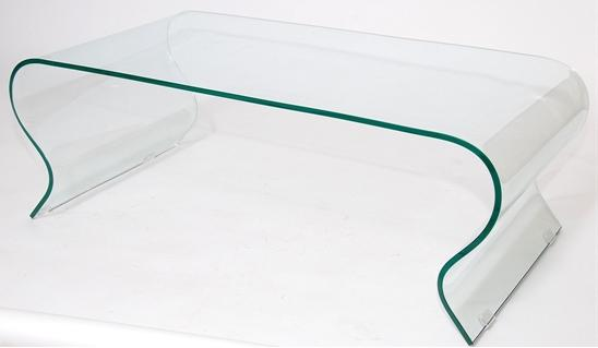bended glass coffee table