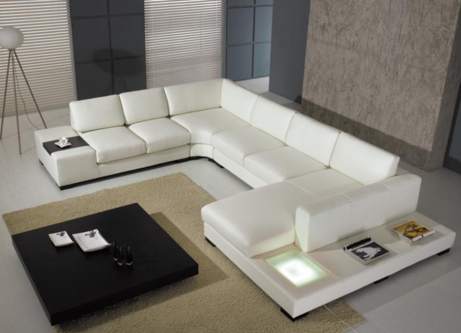 Modern Custom Leather Sofa Sectional Sofas And
