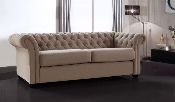 classic sofa with sofa bed