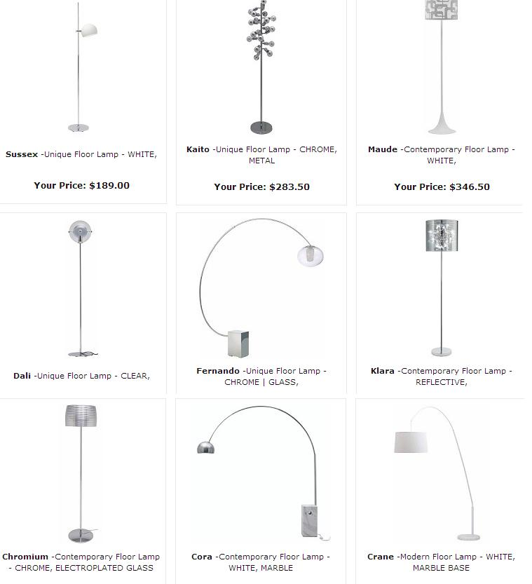 Modern Lighting and floor lamps in Toronto, Mississauga and Ottawa