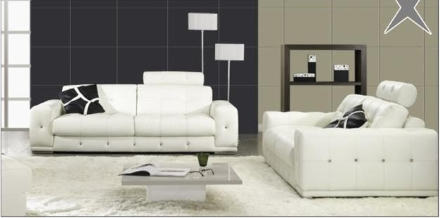 contemporary white couches