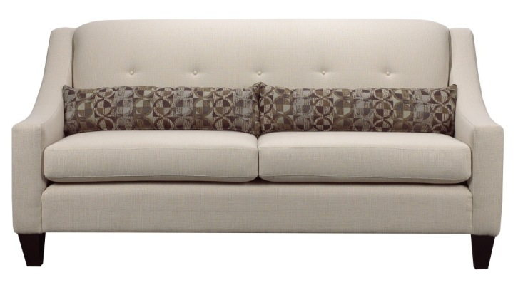 slim contemporary sofa
