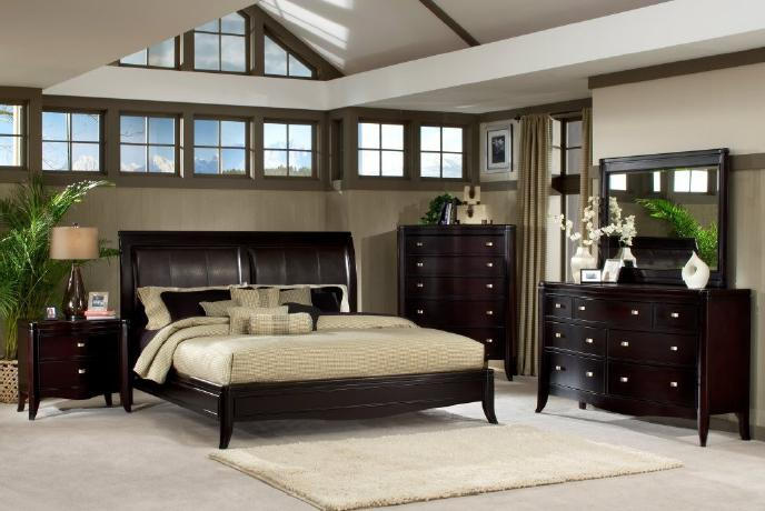 Classic Transitional Contemporary Solid Wood Bedroom